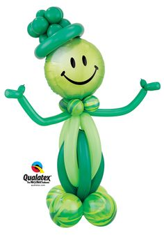 "Add some fun to your St. Patrick's Day party with the ""Lucky Leprechaun"" balloon character!  Click for instructions or visit qualatex.com to find a balloon professional near you. #StPatricksDay http://www.qualatex.com/balloons/findapro.php"