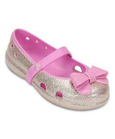 Crocs Little Girls' or Toddler Girls' Keeley Bow Glitter Flats Little Girl Shoes, Girls Shoes, Little Girls, Baby Shoes, Toddler Crocs, Glitter Flats, S Girls, Toddler Girls, Nina Shoes