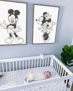 Vintage Mickey Minnie Mouse SET, Disney Nursery Printable, Mickey print, Disney art, Minnie Mouse A Disney Baby Rooms, Disney Baby Nurseries, Disney Bedrooms, Disney Nursery, Disney Playroom, Mickey Minnie Mouse, Mickey Mouse Nursery, Vintage Mickey Mouse, Vintage Disney