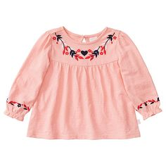 Long Sleeve Gabrielle Embroidered Top