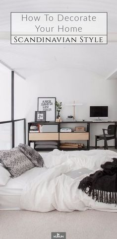How To Master The Subtle Magic Of Scandinavian Interior Design [Scandinavian Decor, Scandinavian Design, Scandinavian Style, Small Bedroom Ideas, Scandinavian Bedroom] Scandinavian Bedroom Decor, Interior Desig, Interior Design, Awesome Bedrooms, Living Room Scandinavian, Bedroom Design, Small Bedroom, Scandinavian Interior Design, Interior Decorating Styles