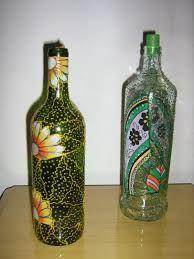 Resultado de imagem para garrafa de vidro decorada