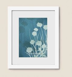 5 x 7 Kitchen Wall Decor, Watercolor Art Nature Print, Blue Flower Herb Chives, Botanical Art Print