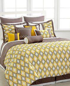 10 pc Queen King Earthen Yellow Grey Beige Comforter Set With Coverlet Modern Comforter Sets, Beige Comforter, Twin Comforter Sets, Yellow Bedding, Bedding Sets, Gray Bedding, Cool Comforters, Bedspreads, Bed Linen Design