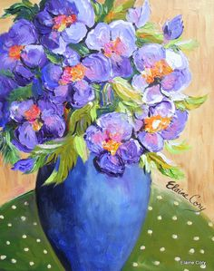 A Purple Floral -  by Elaine Cory