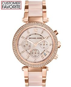 >>>Michael Kors OFF! >>>Visit>> Michael Kors Womens Chronograph Parker Blush and Rose Gold-Tone Stainless Steel Bracelet Watch - Watches - Jewelry Watches - Macys Boutique Michael Kors, Michael Kors Outlet, Handbags Michael Kors, Michael Kors Watch, Mk Handbags, Watches Michael Kors, Michael Kors Jewelry, Cheap Handbags, Mickel Kors