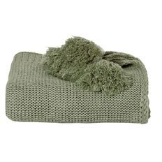 Living & Co Knit Throw with Tassles 3 colours green, grey $ pink $20