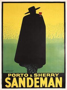 RARE Original 1920s Porto Sandeman Art Deco Poster. Part of our November 3, 2013 poster auction.