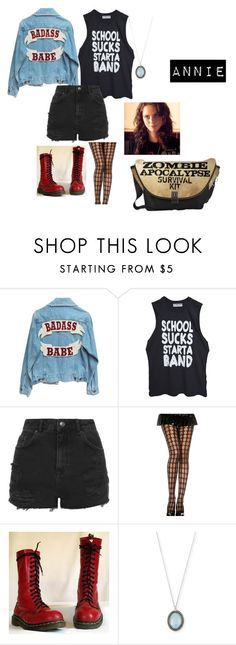 """""""school sucks"""" by vic-valdez on Polyvore featuring Topshop, Dr. Martens, Armenta and Effy Jewelry"""