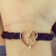 Wrapped in Love- crochet wire bracelet. $35.00, via Etsy.