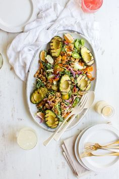 Grilled Avocado and Kale Chopped Salad