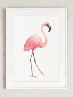 Items similar to Pink Flamingo Art Print, Baby Girls Room Painting, Watercolor Decor Abstract Bird Poster Flamingo Wall Decor Minimalist Nursery Illustration on Etsy Flamingo Painting, Flamingo Art, Pink Flamingos, Flamingo Nursery, Pink Wall Art, Wall Art Prints, Art Original, Original Paintings, Minimalist Nursery