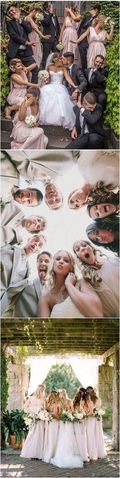 funny wedding photo ideas with bridal party #weddingphotography