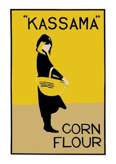 Beggarstaffs, Kassama Corn Flour, 1900. A pseudonym used by the brothers-in-law William Nicholson and James Pryde for their poster designs. 'They joined forces in 1894, and for the next five years they produced a series of posters which by their bold simplicity and clarity of design revolutionized certain aspects of poster art throughout Europe.