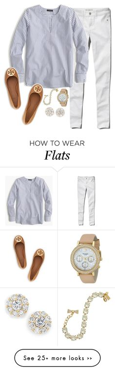 """The night is still young"" by keileeen on Polyvore featuring Abercrombie & Fitch, J.Crew, Kate Spade and Tory Burch"