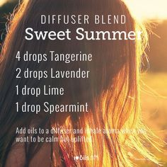 Yummy diffuser blend for summer. Living Essentials, Baby Safe, Young Living Essential Oils