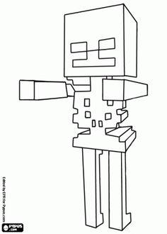 malvorlagen Skelett, feindliche Kreatur von Minecraft ausmalbilder