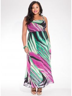 Rene Tube Plus Size Maxi Dress in Rainforest Green - Plus Size Just In by IGIGI