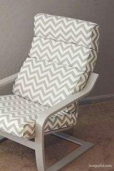 Grey Painted Ikea Poang Chair