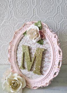 Nursery Letter M Baby Girl Nursery Letters Pink by SeaLoveAndSalt