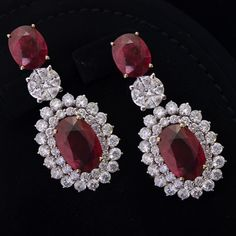 #ruby #diamond #earrings #love