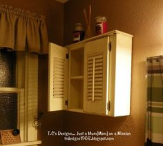 T.C's Designs........ Just a Mum(Mom) on a Mission!: NO DRAWERS IN MY DRAWER! wall cabinet