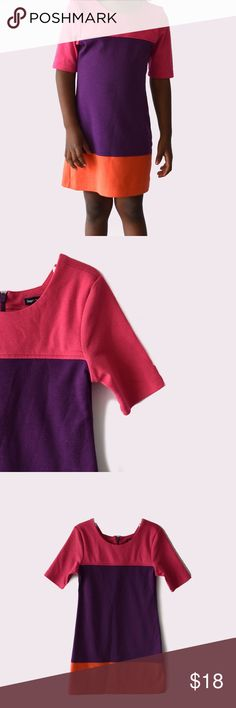 Gap Kids Colorblock Dress Gap | size XS (4-5) | zipper closure on back | all pictures taken by me product shown as is GAP Dresses