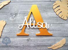 Nursery Name Sign Letter Personalised Wooden name Nursery