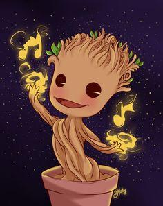 Groot cute dancing version by SNathy on DeviantArt