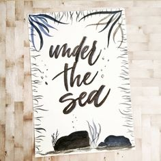 This has absolutely zero to do with the reality of the fact that we're in November, but I'm in denial over here. 😂 Theme inspired by the little mermaid soundtrack which I can't not sing everytime I hear it. Brush lettering and details on watercolor paper. Brush Lettering, Denial, Watercolor Paper, The Little Mermaid, November, Facts, Soundtrack, Zero, Inspiration