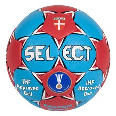 Ballon handball Select Match Soft 2014 - www. Sport Hall, Personal Defense, Club, Leather Cover, Soccer Ball, Brand You, Hand Sewing, Things That Bounce, The Selection