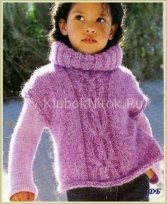 ... для девочек   Вязание спицами и