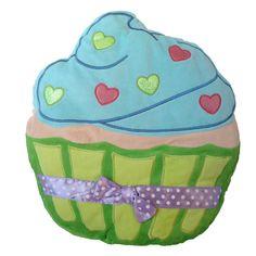 "Cupcake design super soft plush pillow. - Plush Cupcake Pillow - Measures 16"" x 19"" - Not suitable for children under 3 years"