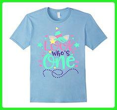 Mens Baby's First Birthday Unicorn Shirt Look Who's One 1 Mom Dad 2XL Baby Blue - Fantasy sci fi shirts (*Amazon Partner-Link)
