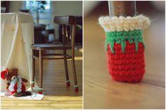 Christmas Chair socks, Christmas home Cristmas decor, Floor protector, chair leg socks, table socks, home decor, Eco-friendly gift