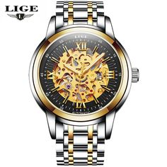 Relogio Masculino LIGE Mens Watches Top Brand Luxury Fashion Business Automatic Watch Men Sport Full Steel Waterproof Wristwatch #Affiliate