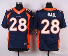 Men's Denver Broncos #28 Montee Ball Navy Blue Alternate NFL Nike Elite Jersey