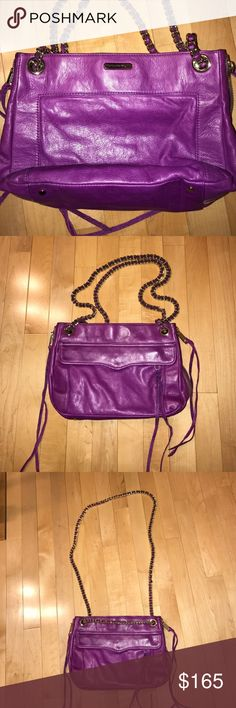 Rebecca Minkoff swing bag Purple swing bag. Great condition. Comes with dust bag. Soo many compliments on this bag and I love it! But I need to downsize my purse collection.😭 smoke and pet free home. No lowballs! Rebecca Minkoff Bags Shoulder Bags