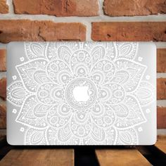 White Henna Mandala Hard Cover Case For Apple Macbook Pro Retina Air 11 12 13 15 #UnbrandedGeneric #PersonalizedPaintingPatternTexture