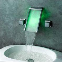 Zeitgemäße Farbwechsel LED Wasserhahn Unterputzmontage