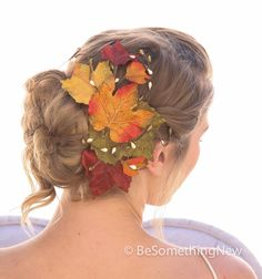 Big Fall Leaves Hair Comb, Fall Wedding Headpiece, Autumn Leaf Hair Clip by BeSomethingNew on Etsy https://www.etsy.com/listing/203040059/big-fall-leaves-hair-comb-fall-wedding