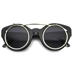 Retro Steampunk Clip On Floating Lens Round Cat Eye Sunglasses (Black / Smoke), Men's Clip On Sunglasses, Retro Sunglasses, Oversized Sunglasses, Round Sunglasses, Mens Sunglasses, How To Tie Shoes, Steampunk Sunglasses, Black Cat Eyes, Cat Eye Glasses