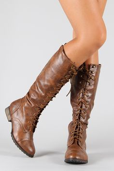 Breckelle Outlaw-13 Military Lace Up Knee High Boot. $43.20