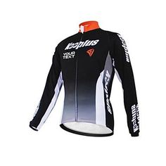 KOOPLUS Unisex Spring Autumn Customized Cycling Clothing Long Sleeve Polyester Cycling Jersey--Black Orange , Text Color 2-Font 5 -- You can find more details by visiting the image link.