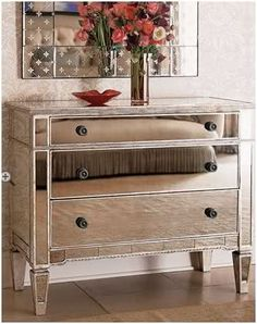 Mirrored Hall Chest - tropical - dressers chests and bedroom armoires - Horchow Mirrored Furniture, Hooker Furniture, Bedroom Furniture, Modern Furniture, Furniture Design, Bedroom Decor, Master Bedroom, Rustic Furniture, Bedroom Headboards