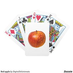 Red apple bicycle playing cards