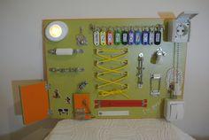 Busy board Sensory board Montessori Activity board by MonteToys