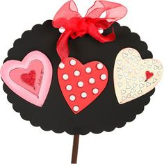 Valentine Love Heart Magnets Assorted Set of 3 The Round Top Collection V8034