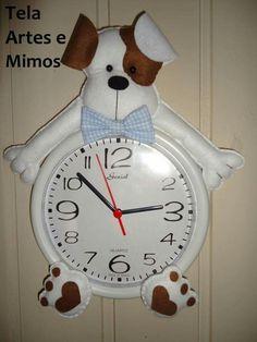 Auauau Christmas Clock, Crochet Fruit, Wood Carving Patterns, Dish Towels, Felt Flowers, Felt Crafts, Home Decor, Ideas, Clock Craft
