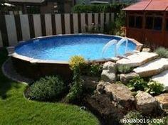 Image result for Above Ground Pool Landscape Designs